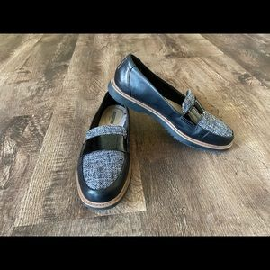 Clark's Loafers cushion sole  tweed